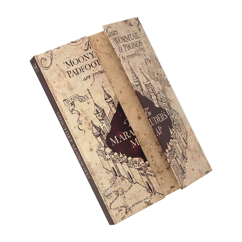 HARRY POTTER - Carte du Maraudeur - Cahier A5 à ouverture magnétique