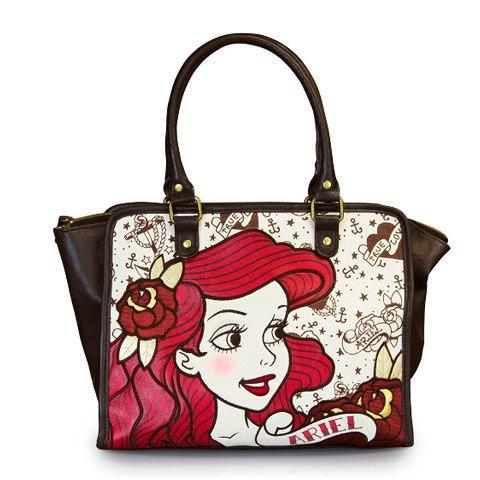 DISNEY - Ariel Natural Canvas Handbag 'LoungeFly'_1