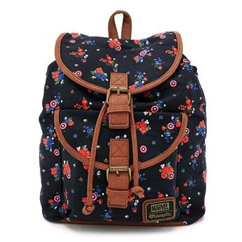 MARVEL - Captain America Floral Fashion Backpack  'LoungeFly'
