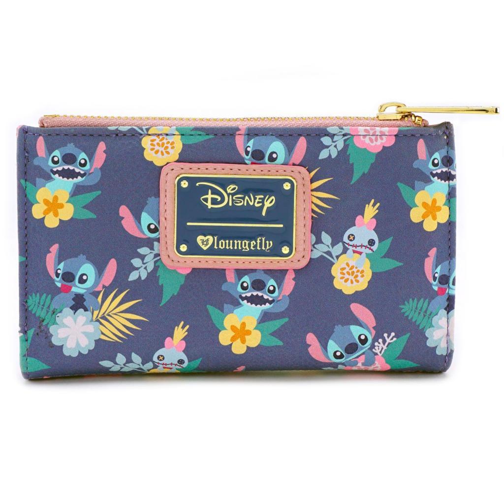 DISNEY - Stitch & Scrump Floral Print Wallet 'LoungeFly'