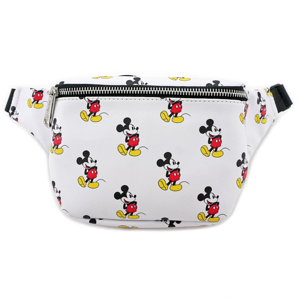 DISNEY - Mickey Print Faux Leather Fanny Pack 'LoungeFly'