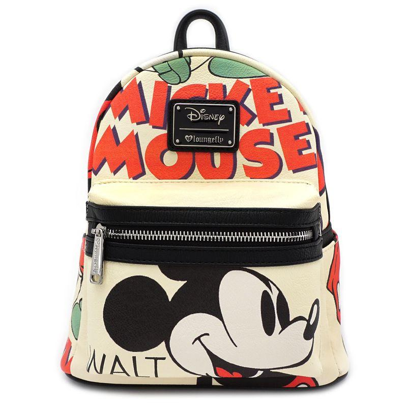 DISNEY - Mickey Mouse Classic Mini Backpack 'LoungeFly'