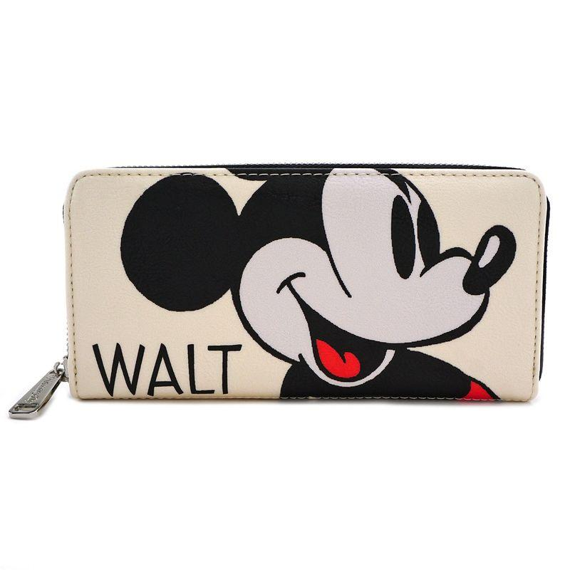 DISNEY - Mickey Mouse Classic Zip Wallet 'LoungeFly'