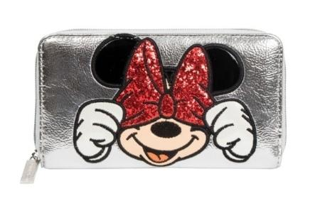 DISNEY - Silver Zipper Wallet Minnie 'Danielle Nicole'