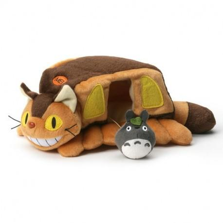 STUDIO GHIBLI - Peluche Totoro - Catbus House - 24cm