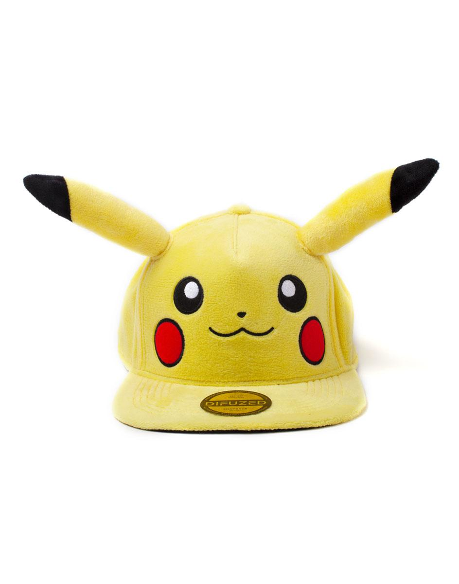 POKEMON - Pikachu Casquette Premium Peluche