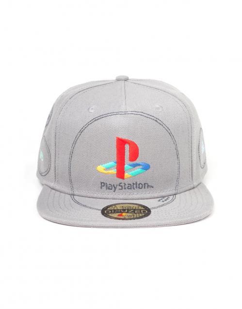 PLAYSTATION - Silver Logo - Casquette Snapback