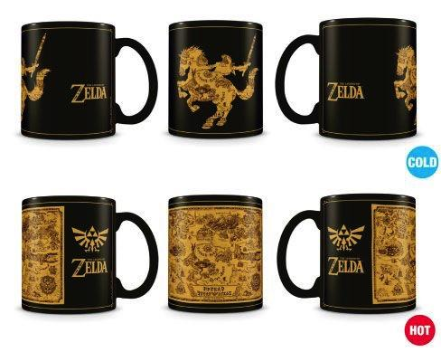 ZELDA - Mug Heat Change 315 ml - Map / Silhouette