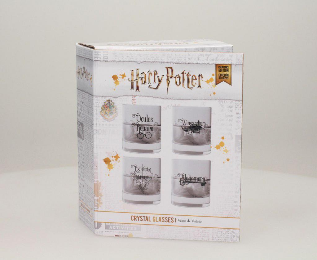 HARRY POTTER - Set 4 Scotch Glass - Charms Edition_2