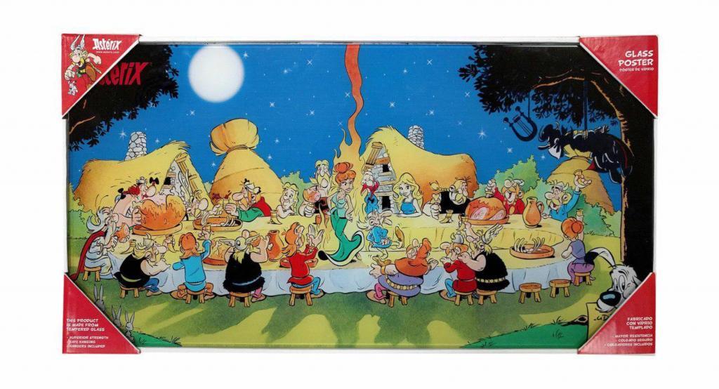 ASTERIX - Poster en Verre - Banquet - 60X30 cm