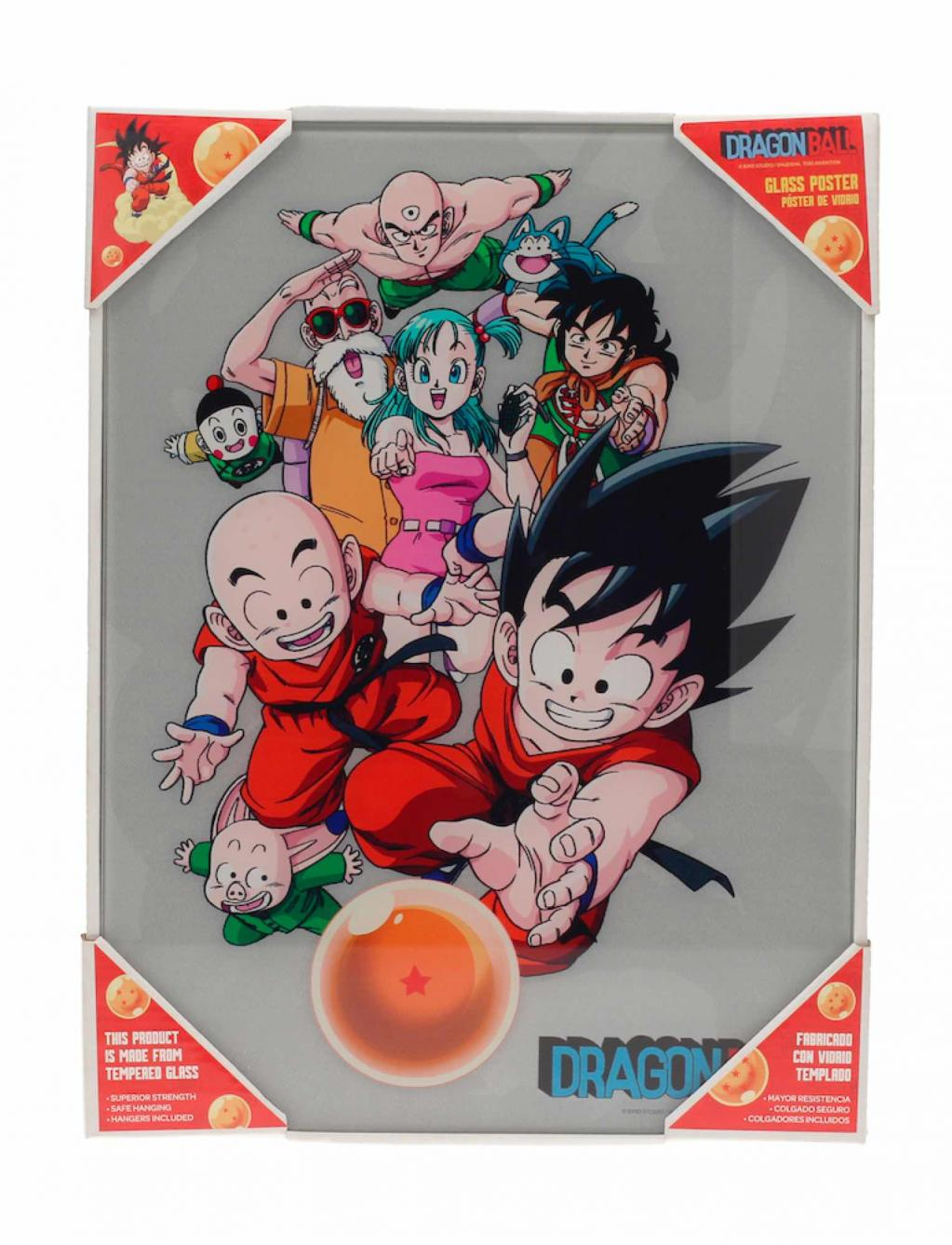 DRAGON BALL - Impression en Verre - Characters - 30X40 Cm