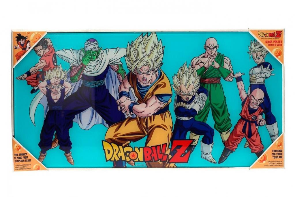 DRAGON BALL - Impression en Verre - Heroes - 60X30 cm