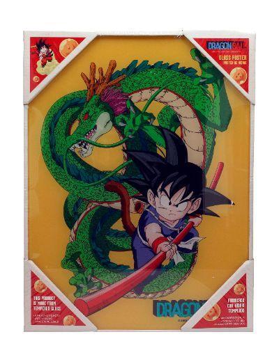 DRAGON BALL - Impression en Verre - Kid Goku - 30X40 Cm