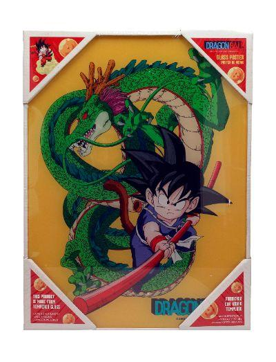 DRAGON BALL - Impression en Verre - Kid Goku - 30X40 Cm