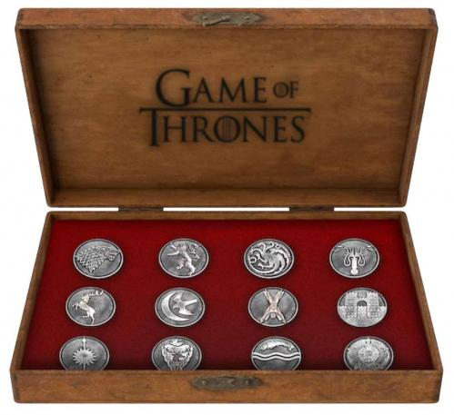 GAME OF THRONES - Set 12 Pins Deluxe - House Emblems
