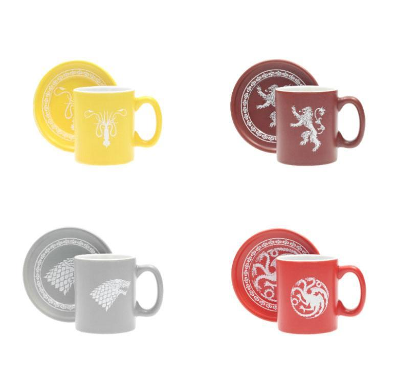 GAME OF THRONES - Pack 4 Espresso Mugs Logos Collector Edition