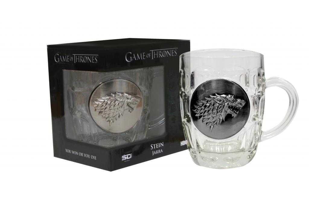 GAME OF THRONES - Crytal Stein with Metallic Logo - Stark_1
