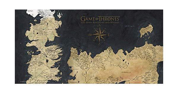 GAME OF THRONES - Impression en Verre - Westeros Map - 60X30 cm_1