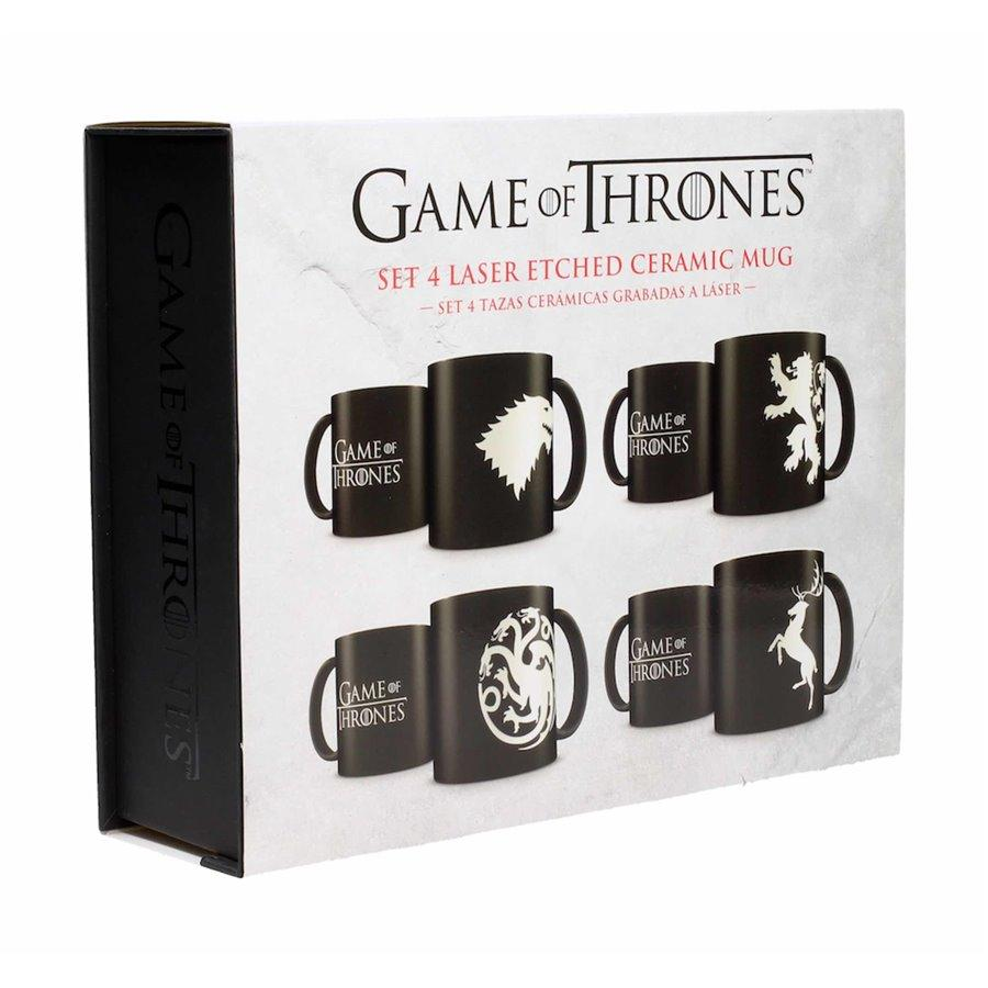 GAME OF THRONES - Pack 4 Mugs Céramique Logos Collector Edition