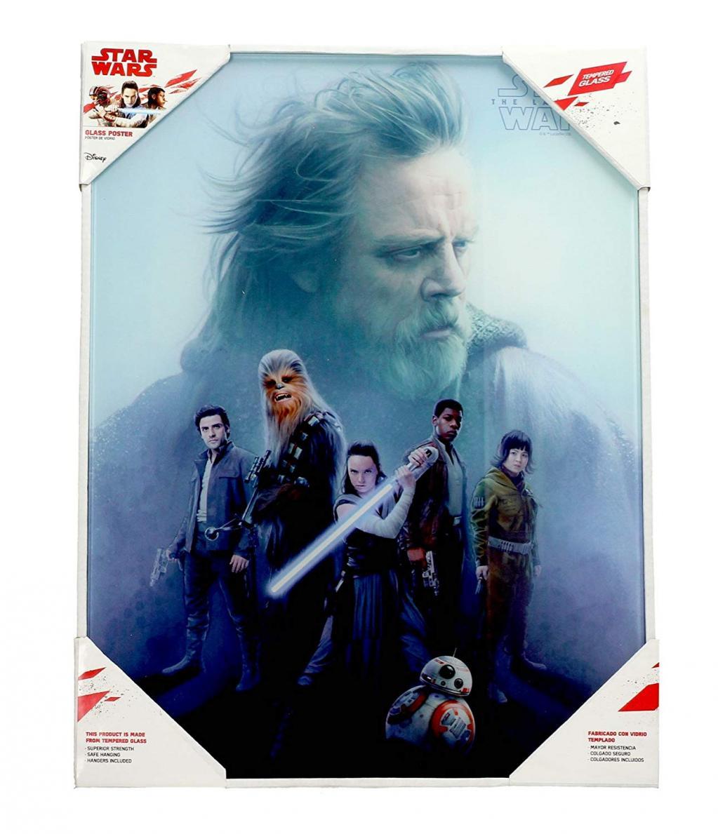 STAR WARS - Impression en Verre - Les Derniers Jedi  - 30X40 Cm