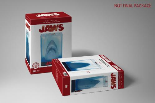 JAWS - Poster 3D - 25cm