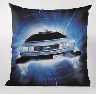 BACK TO THE FUTURE - Coussin carré - Delorean Roads_1