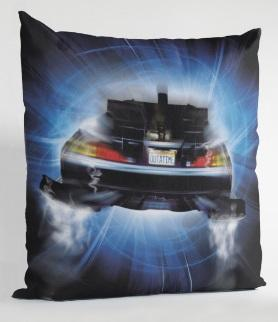 BACK TO THE FUTURE - Coussin carré - Delorean Roads_2