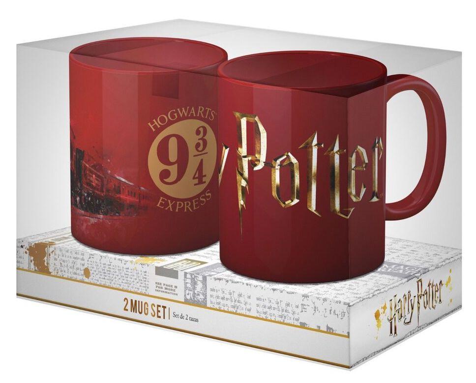 HARRY POTTER - Pack 2 Ceramic Mug - Logo & Hogwarts Express