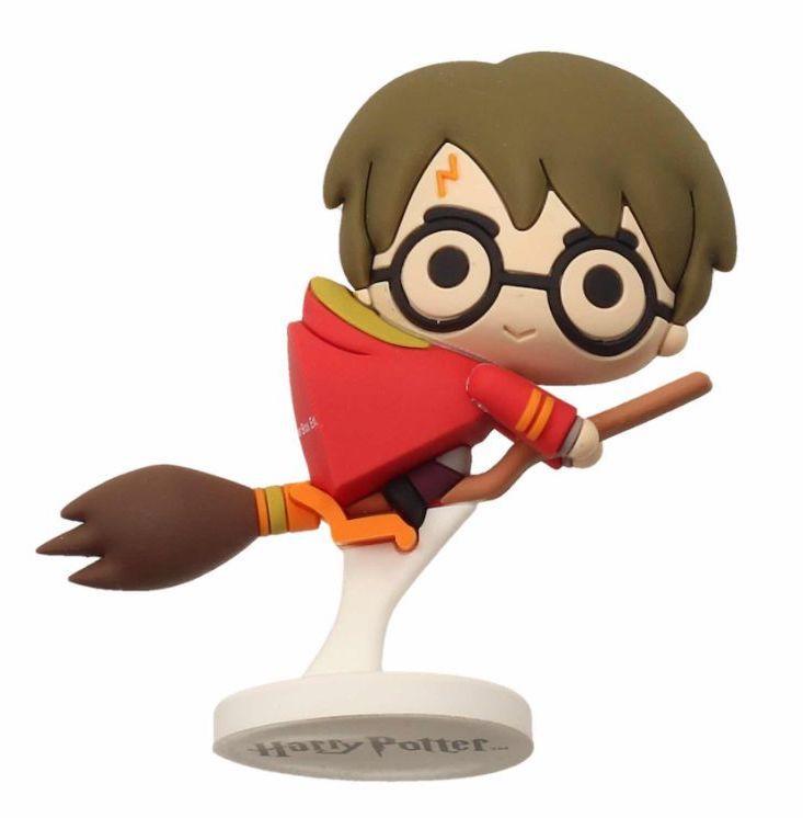 HARRY POTTER - Rubber Mini Figure 6cm - Harry Potter Nimbus Red Cap