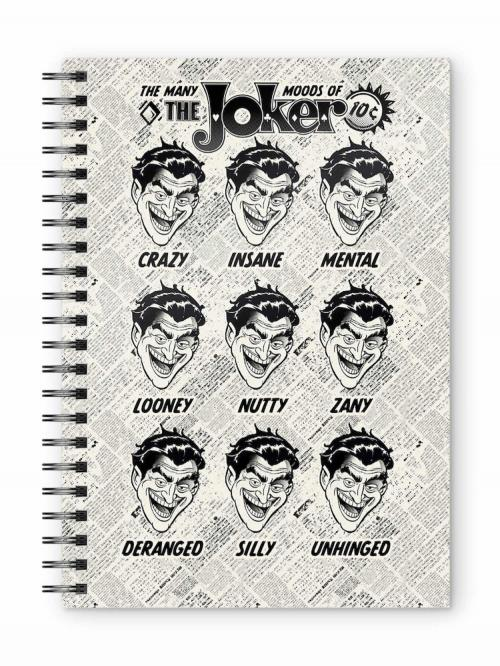DC COMICS - Joker Faces - Cahier spirale A5