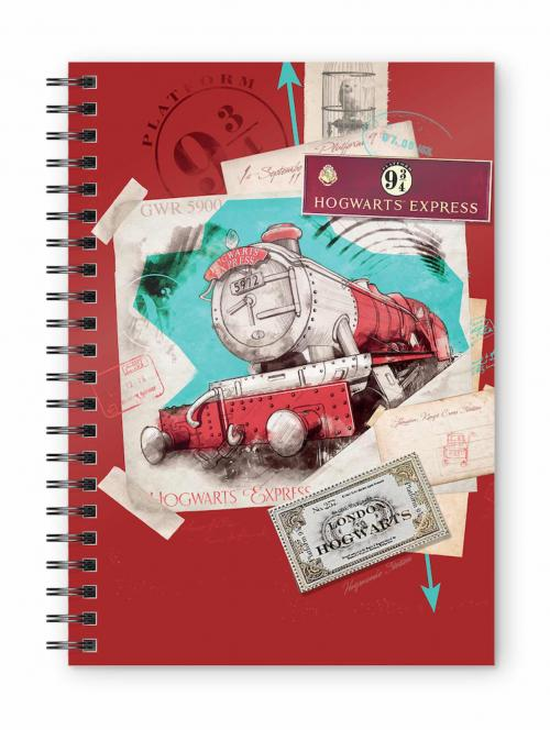 HARRY POTTER - Hogwarts Express Red - Cahier spirale A5