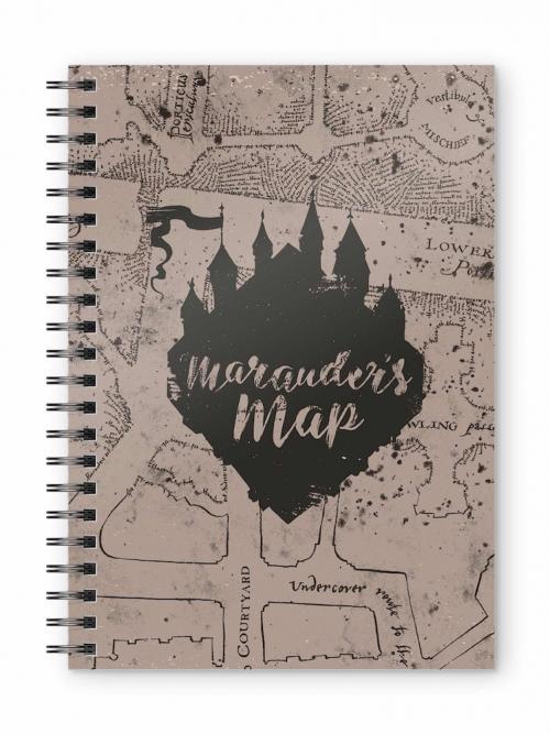 HARRY POTTER - Marauder's Map - Cahier spirale A5