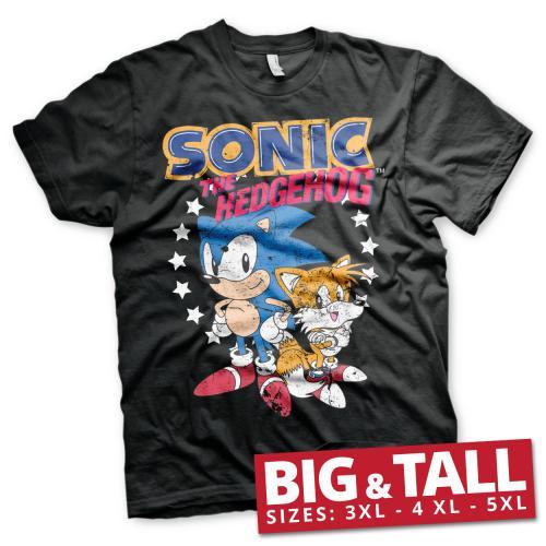 SONIC THE HEDGEHOG - T-Shirt Big & Tall - Sonic & Tails (3XL)