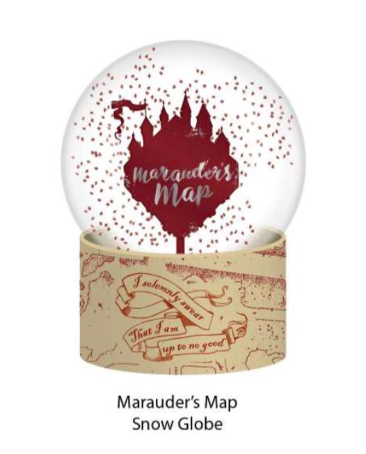 HARRY POTTER - Boule à neige - Carte du Maraudeur_1
