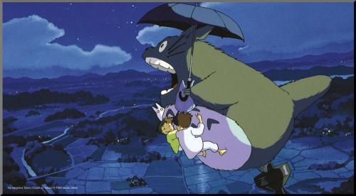 STUDIO GHIBLI - Totoro & Umbrella - Tableau en bois 37.5x20.5cm