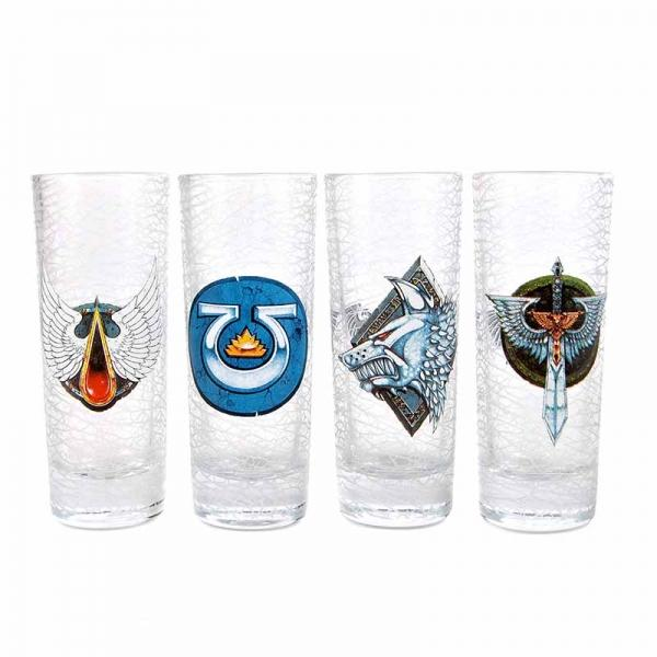 WARHAMMER - Set of 4 Mini Glasses 100ml - Chapter