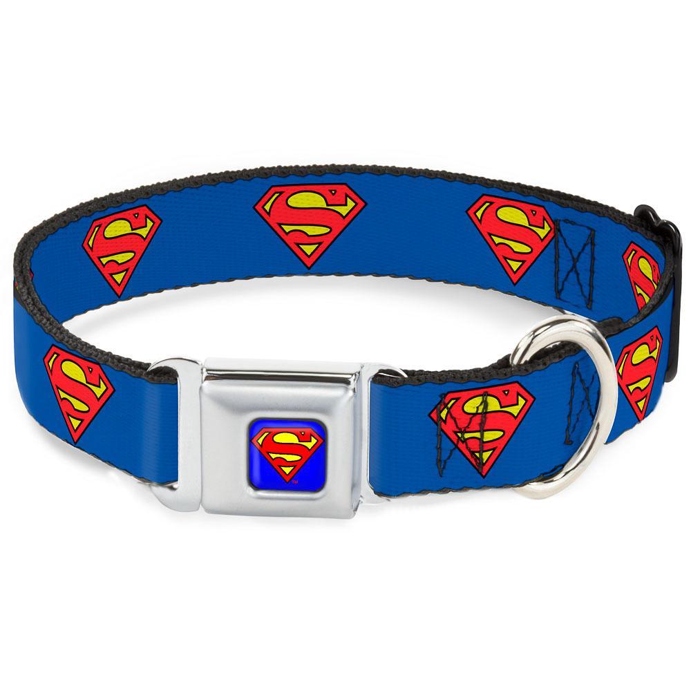 SUPERMAN - Collier pour Chien (S) 22/38 - 2,5 Cm - Blue/Logo