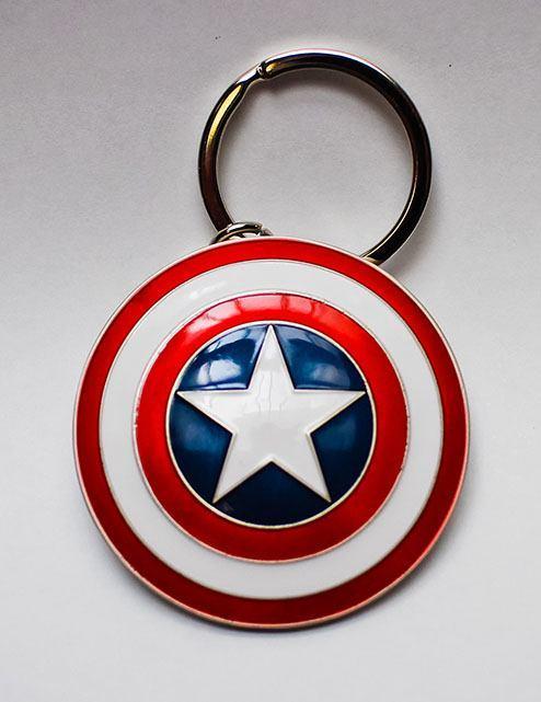 MARVEL - 3D Metal Keychain Blister Box - Captain America Shield