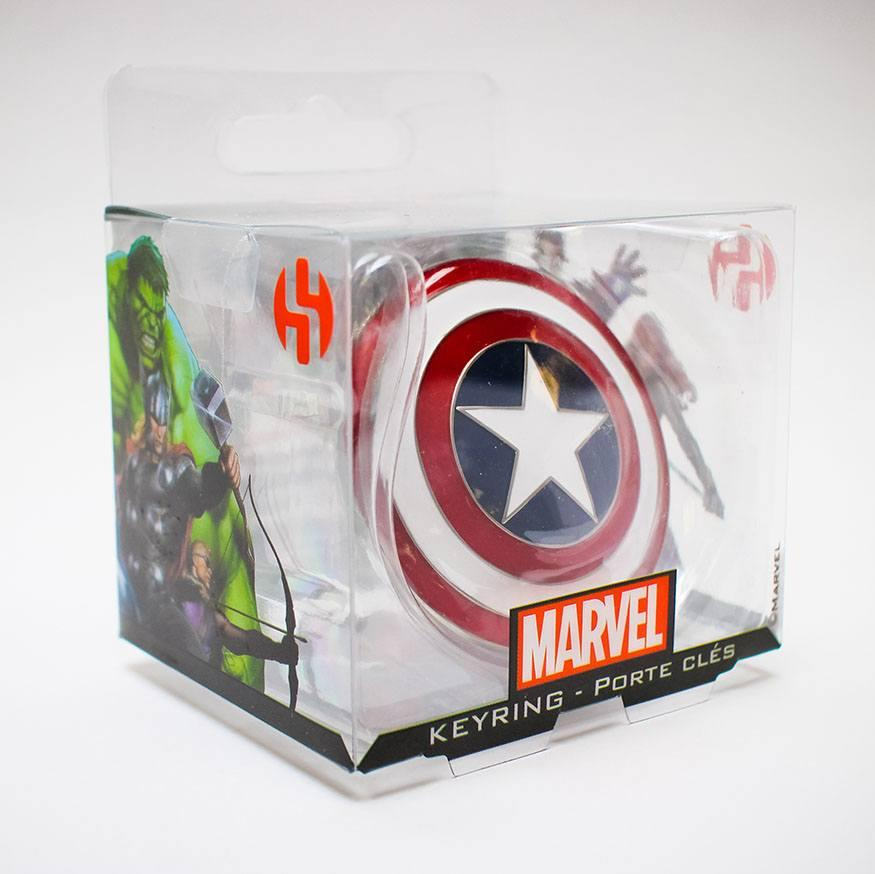 MARVEL - 3D Metal Keychain Blister Box - Captain America Shield_3