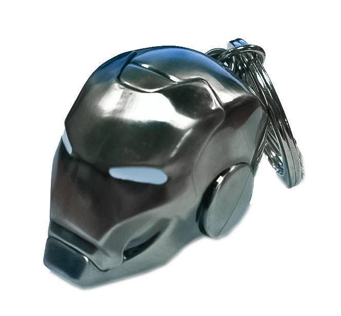 MARVEL - 3D Metal Keychain Blister Box - Iron Man SILVER Helmet
