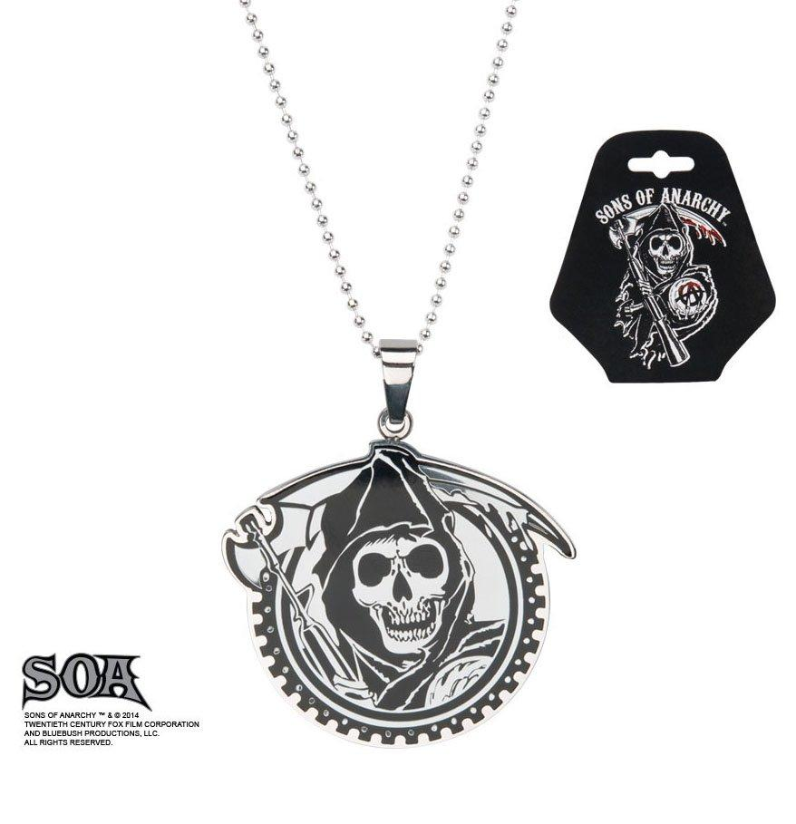 SONS OF ANARCHY - Grim Reaper Geard with Gunsickle Pendants with Chain