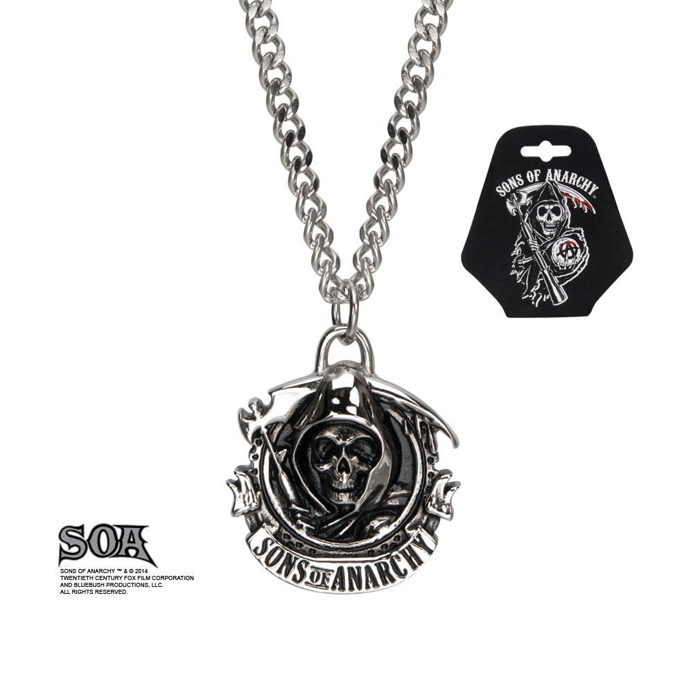 SONS OF ANARCHY - Stainless Steel grim reaper pendant with Chain