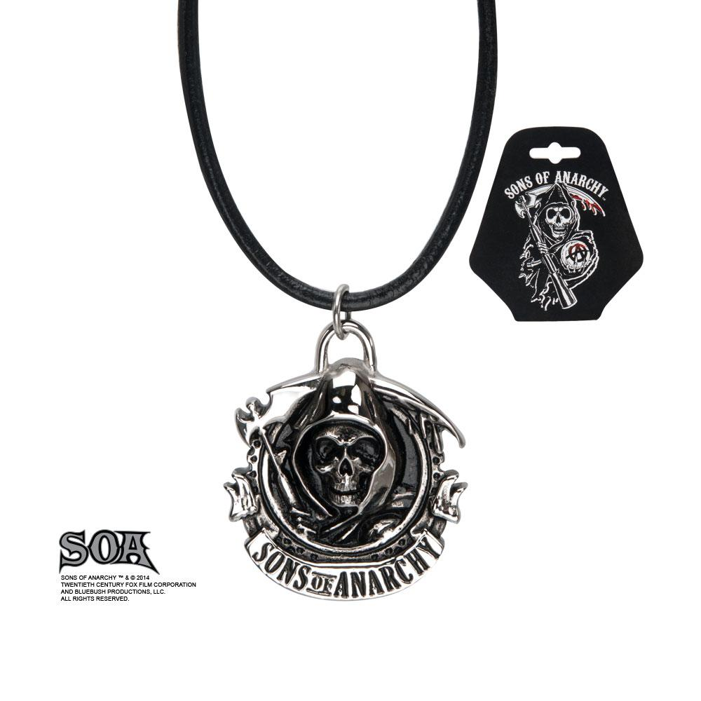 SONS OF ANARCHY - Grim Reaper pendant with Leather Chord