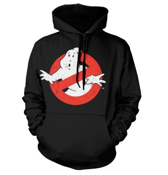 GHOSTBUSTERS - Distressed Logo Hoodie (M)