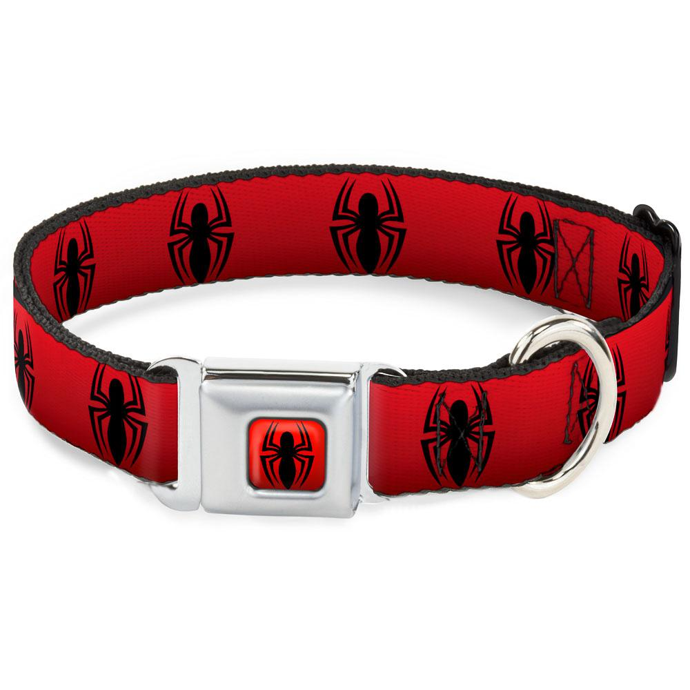 SPIDERMAN - Collier pour Chien (S) 22/38 - 2,5 Cm - Red/Logo_1