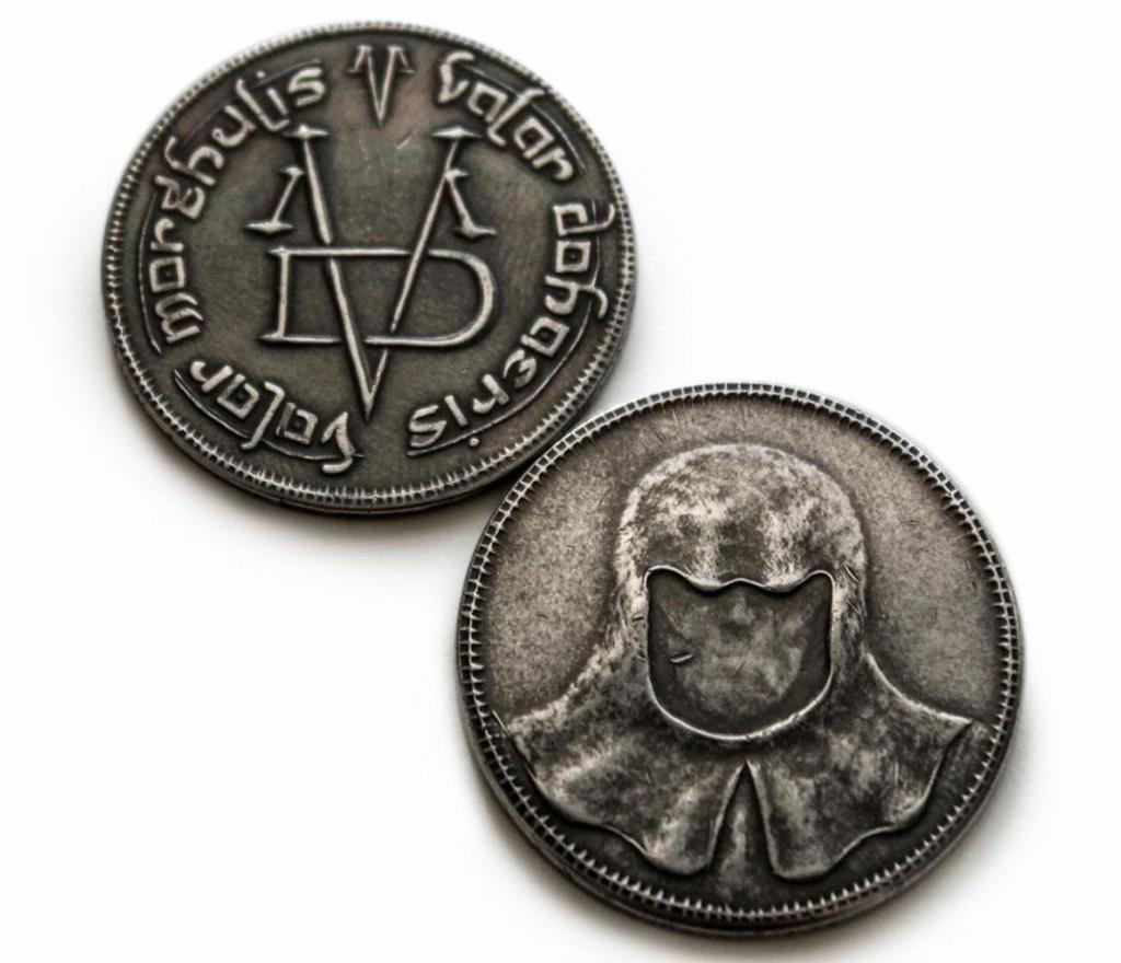 GAME OF THRONES - Pendentif et Collier Iron Coin of the Faceless Man_4