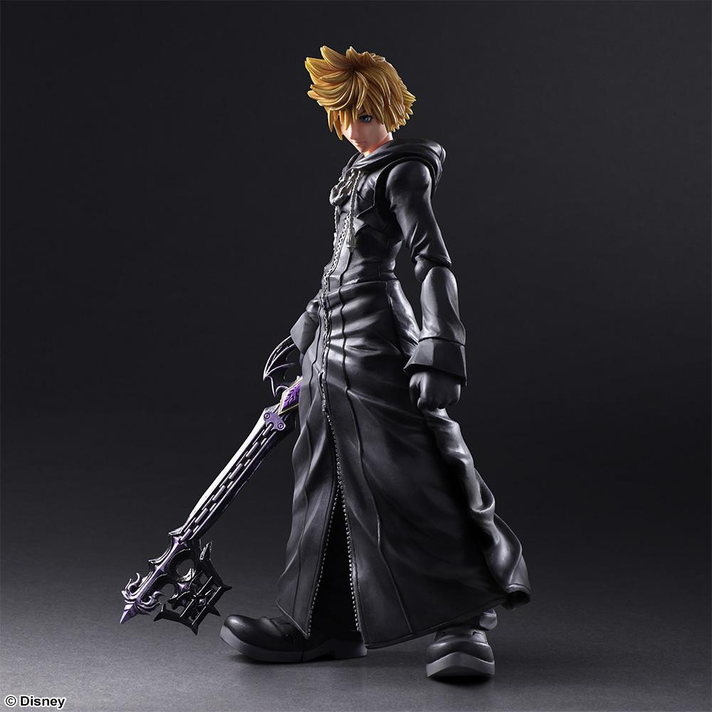 KINGDOM HEARTS II -  Play Arts Kai - Roxas Orgnisation XIII - 22cm