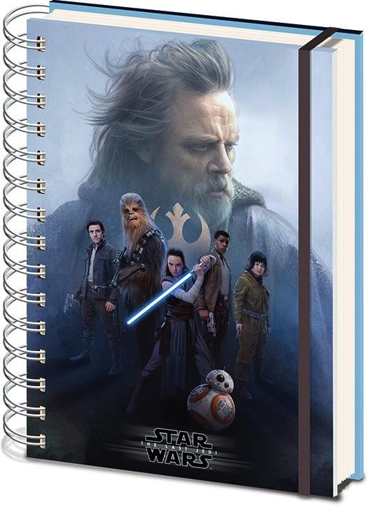 STAR WARS - Notebook A5 3D COVER - The Last Jedi