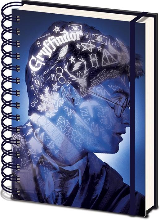 HARRY POTTER - Notebook A5 3D COVER - Magic Portrait