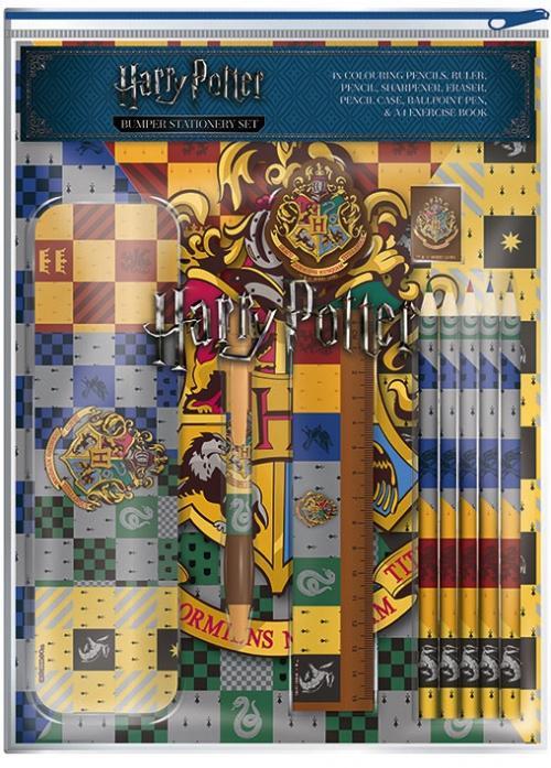 HARRY POTTER - Bumper Stationary Set - House Crest